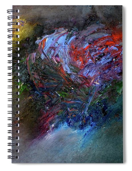 Spiral Notebook featuring the painting Self  Portrait  by Michael Lucarelli