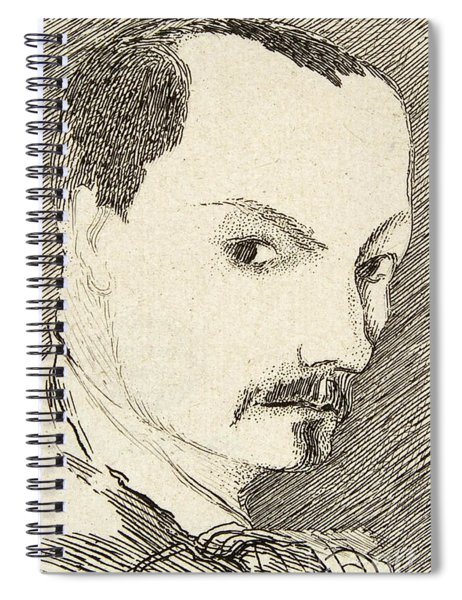 Self Portrait Of Charles Baudelaire Spiral Notebook