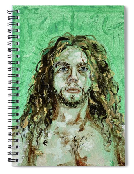 Self Portrait -with Emerald Green And Mummy Brown- Spiral Notebook