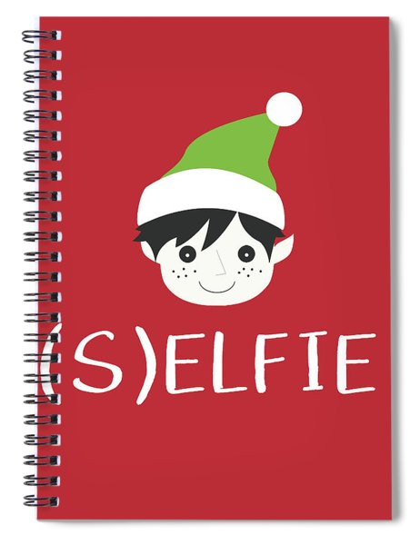 Selfie Elf- Art By Linda Woods Spiral Notebook