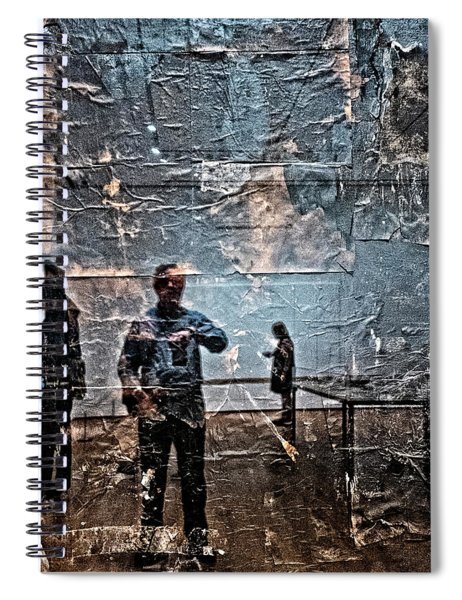 Selfie In Black Painting Spiral Notebook