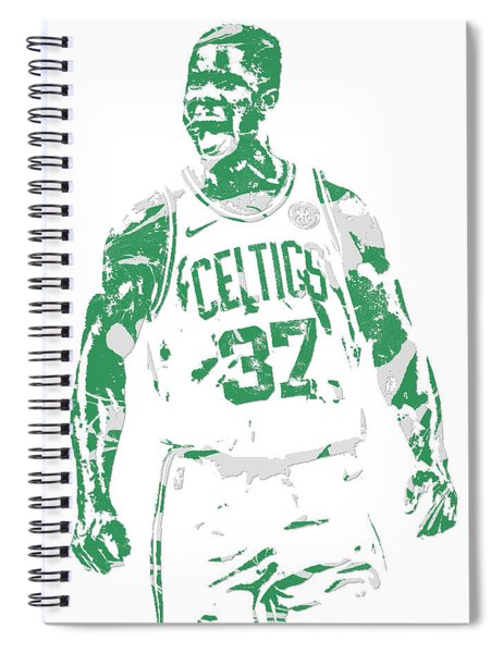 Semi Ojeleye Boston Celtics Pixel Art 1 Spiral Notebook