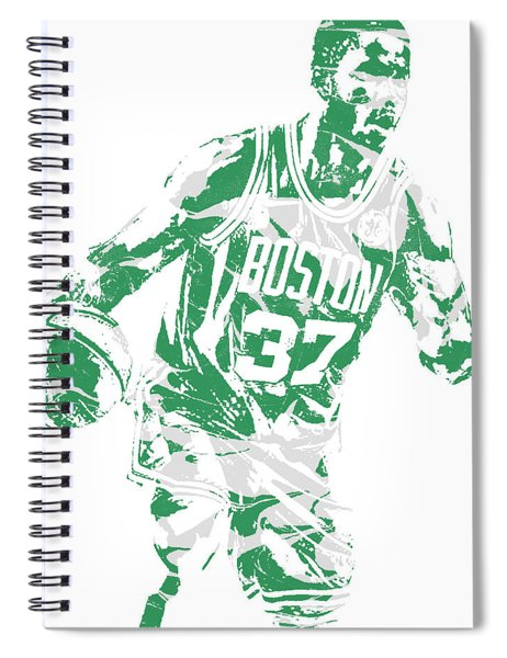 Semi Ojeleye Boston Celtics Pixel Art 2 Spiral Notebook