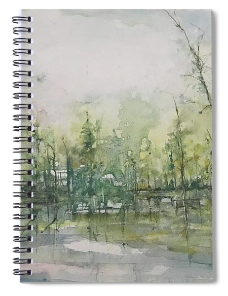 Septembers Morning On The River Spiral Notebook