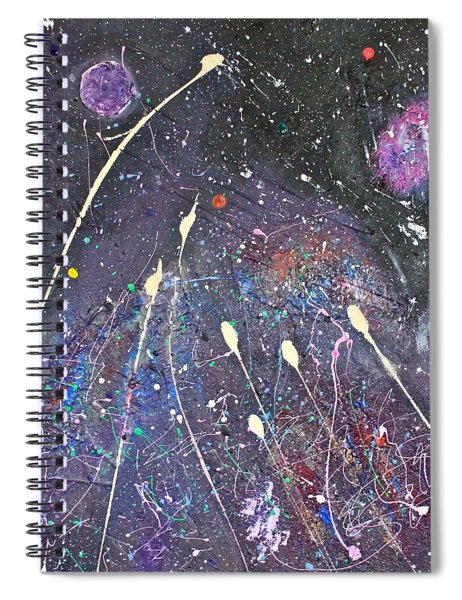 Spiral Notebook featuring the painting Septuplets by Michael Lucarelli