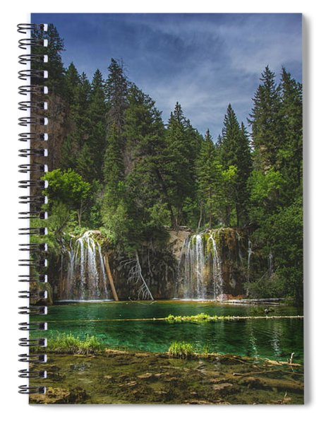 Serene Hanging Lake Waterfalls Spiral Notebook