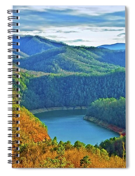 Serene Mountains And Lake Spiral Notebook