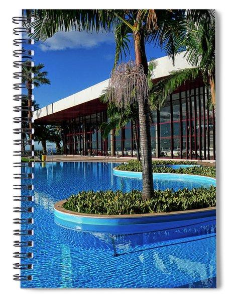 Serene Swimming Pool Spiral Notebook