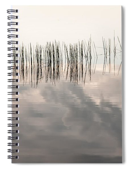Serenity Dwells Here Where Tranquil Water Flow Cloaked  In Hues Of Love Spiral Notebook