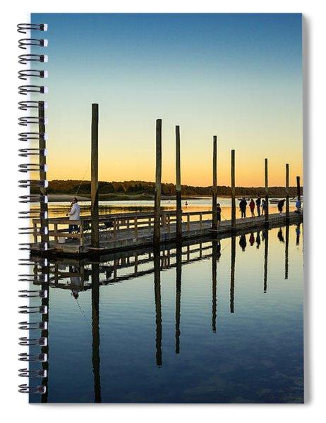 Serenity Sunset Kings Park New York Spiral Notebook