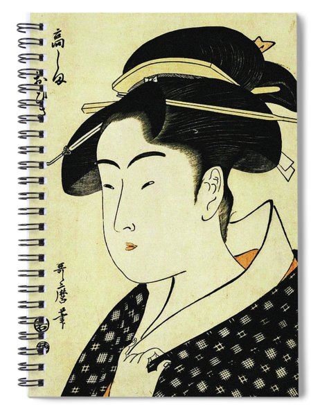 Series Of Famous Beauties Of Edo Spiral Notebook