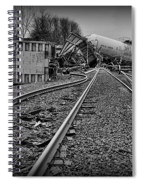 Serpentine Railroad Tracks In Black And White Spiral Notebook