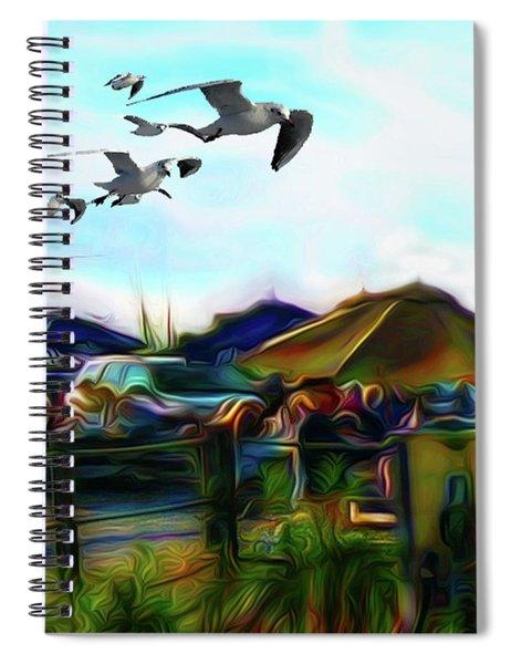 Sesuit Tetraptych 1 Spiral Notebook