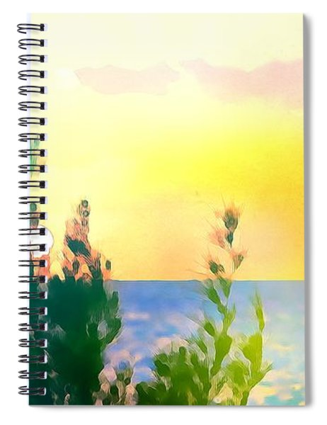 Pastel Colors On The Atlantic Ocean In Cancun Spiral Notebook