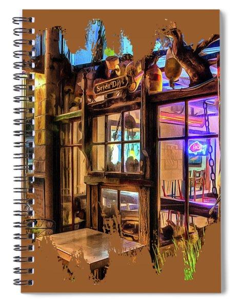 Seven Days At Ginos Spiral Notebook