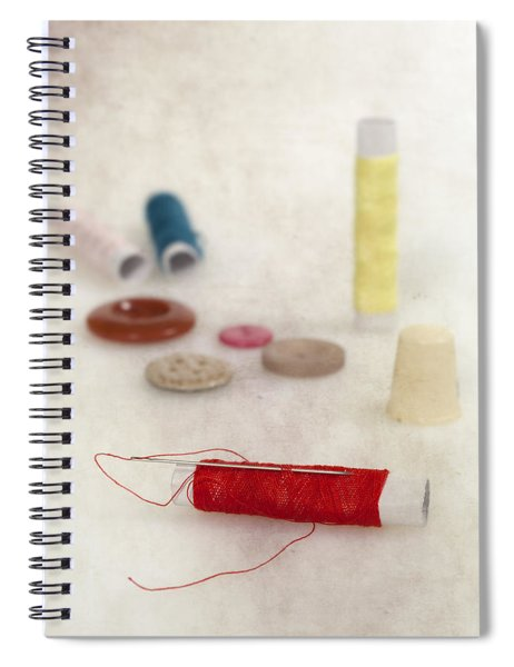 Sewing Supplies Spiral Notebook by Joana Kruse