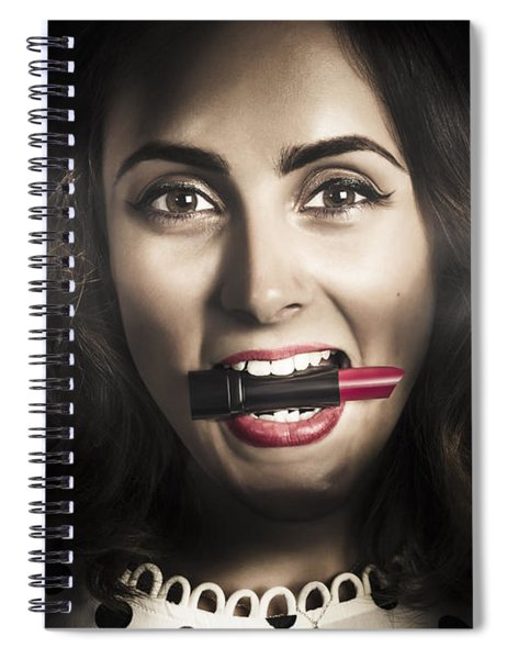 Sexy Lips Pin-up Beauty Spiral Notebook