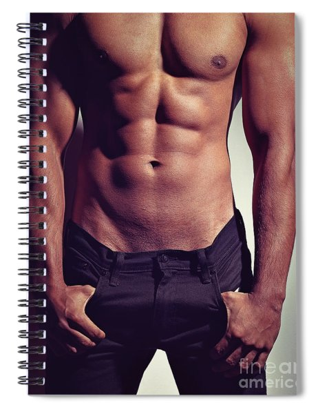 Sexy Male Muscular Body Spiral Notebook