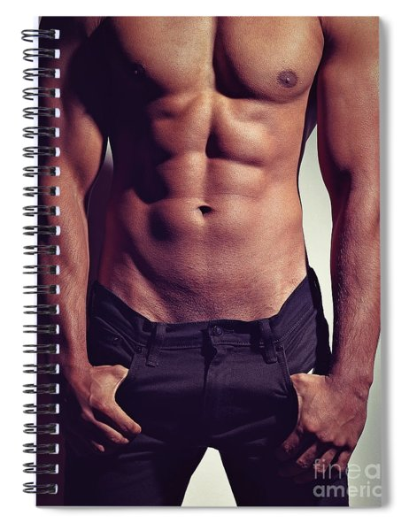 Sexy Male Muscular Body Spiral Notebook