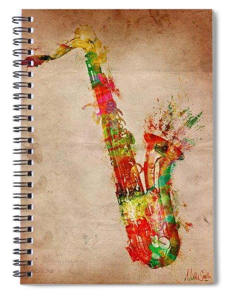 Sexy Saxaphone Spiral Notebook