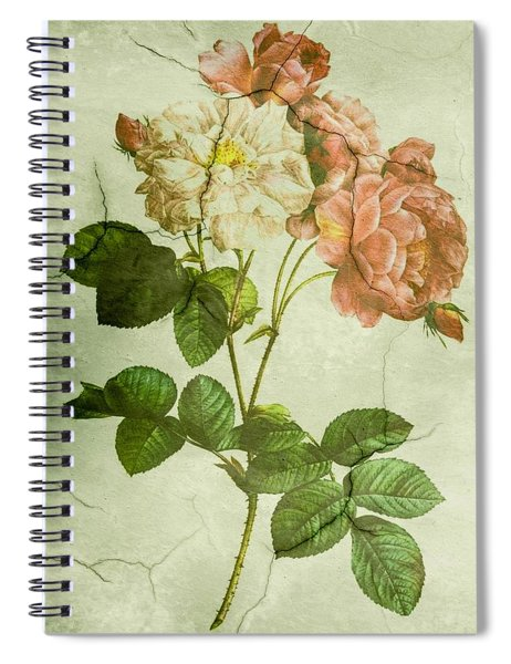 Shabby Chic Pink And White Peonies Spiral Notebook