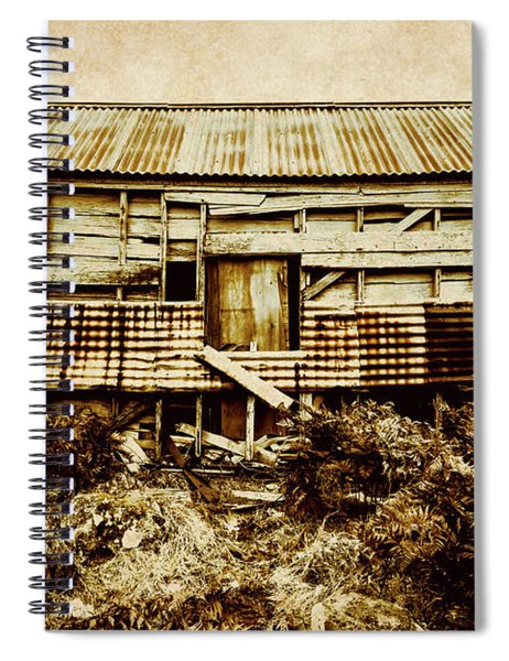 Shabby Country Cottage Spiral Notebook