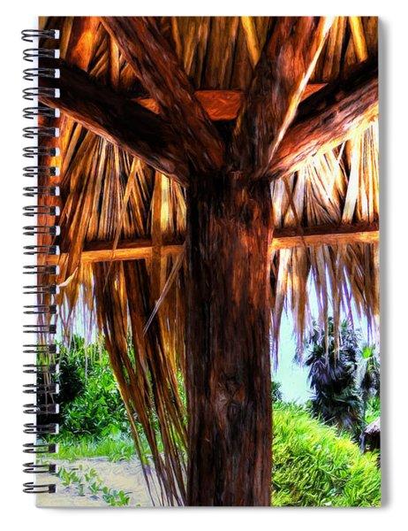 Shade On The Beach Spiral Notebook