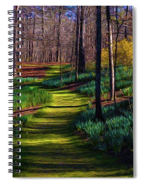 Shaded Spring Stroll Spiral Notebook