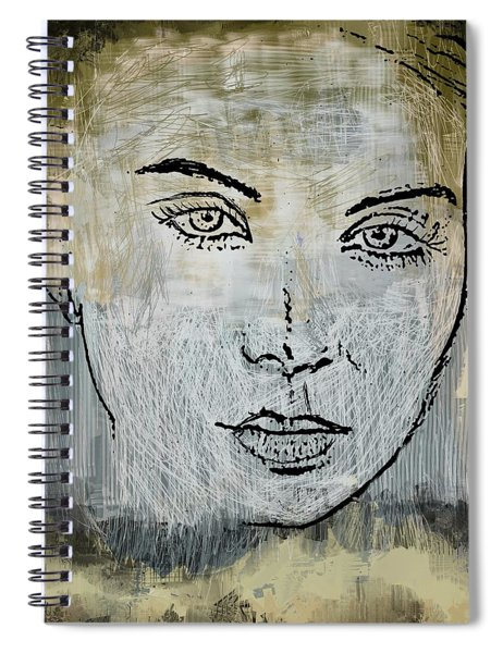 Shades Of Grey And Beige Spiral Notebook