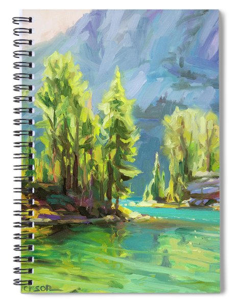 Shades Of Turquoise Spiral Notebook