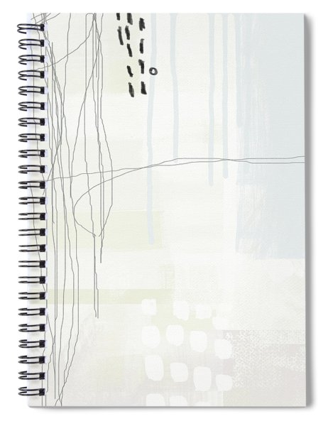 Shades Of White 1 - Art By Linda Woods Spiral Notebook by Linda Woods