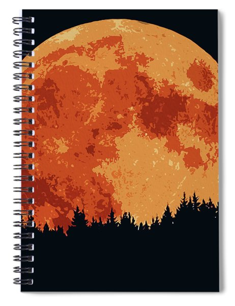 Shadow Of The Moon  Spiral Notebook