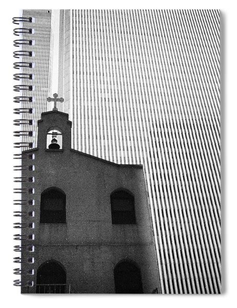 Shadow Of World Trade Center Spiral Notebook