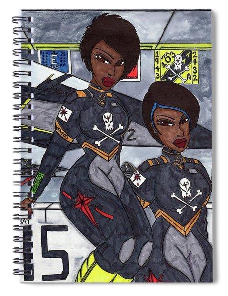 Shadowfox And Rook II  Spiral Notebook