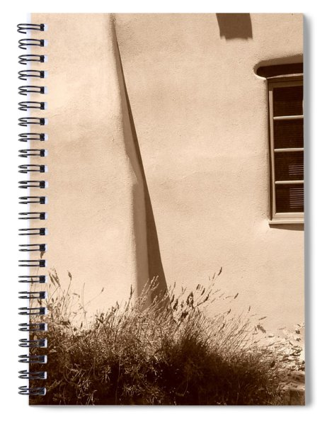 Shadows And Light In Santa Fe Spiral Notebook