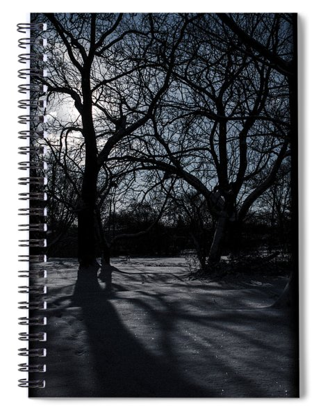 Shadows In January Snow Spiral Notebook