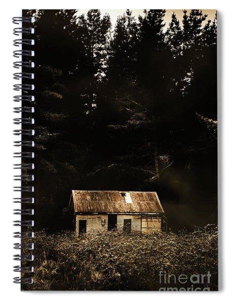 Shadows Of Mornings First Light Spiral Notebook