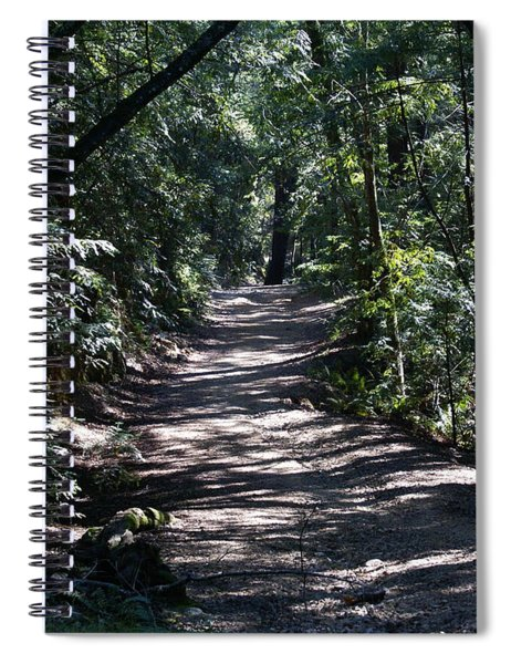 Shady Road On Mt Tamalpais Spiral Notebook