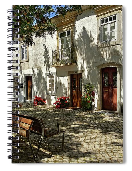 Spiral Notebook featuring the photograph Shady Street In Tavira, Portugal by Barry O Carroll