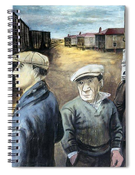 Shahn: Three Men Spiral Notebook