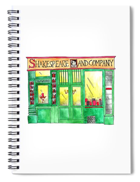 Shakespeare And Company Spiral Notebook