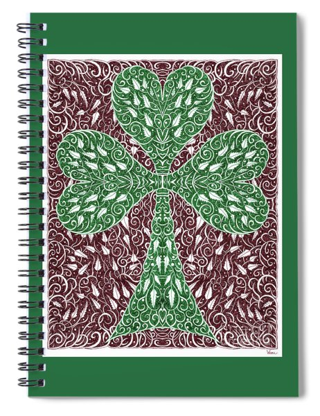 Shamrock With Leaves Spiral Notebook