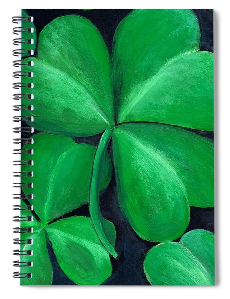 Shamrocks Spiral Notebook by Nancy Mueller