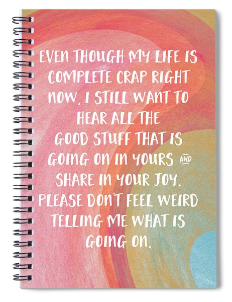 Share Your Joy- Empathy Card By Linda Woods Spiral Notebook