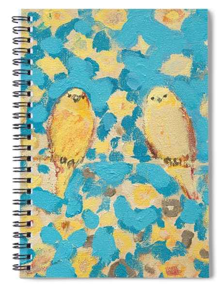 Sharing A Sunny Perch Spiral Notebook