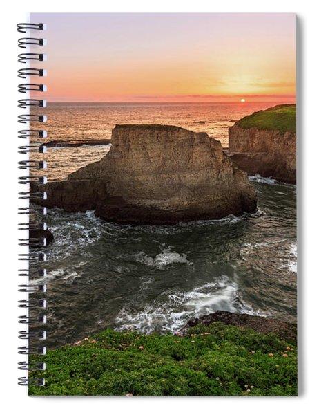 Shark Fin Cove Sunset Spiral Notebook