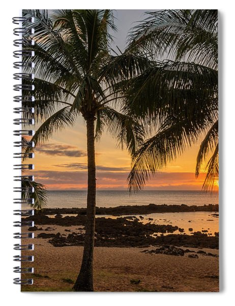 Sharks Cove Sunset 4 - Oahu Hawaii Spiral Notebook