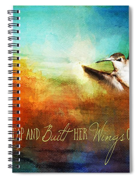 She Built Her Wings Spiral Notebook