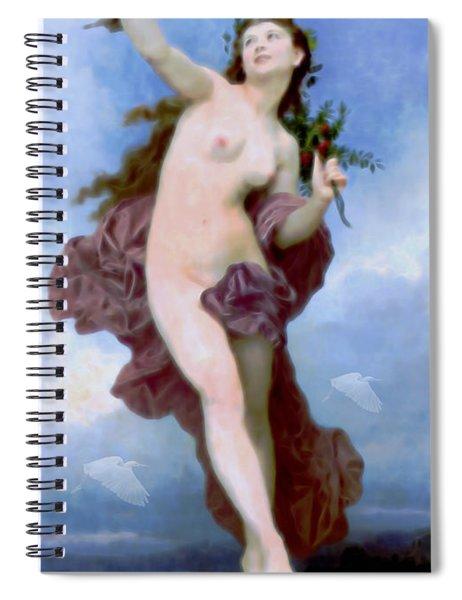 She Dances Into Spring Spiral Notebook