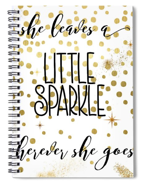 She Leaves A Little Sparkle Spiral Notebook